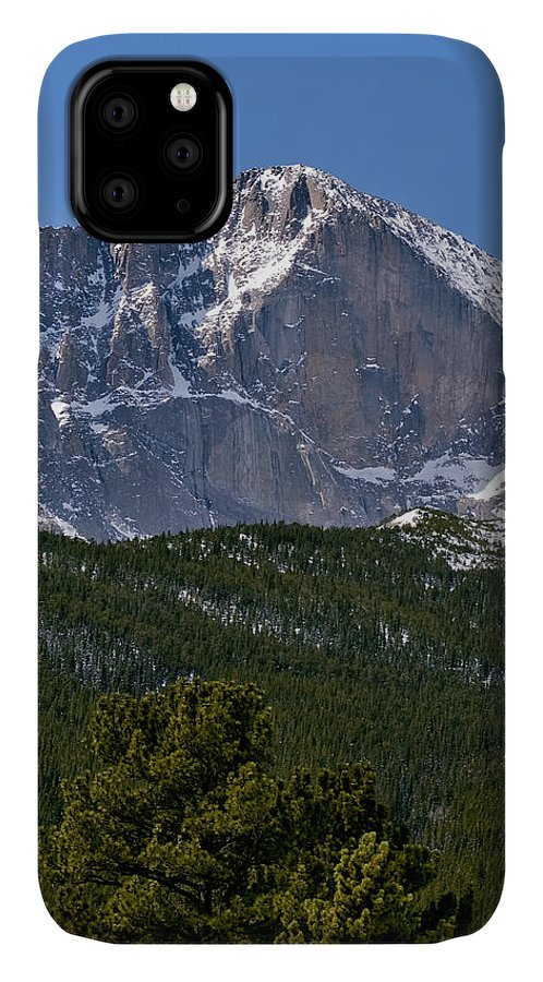 america National Park IPhone Case featuring the photograph The Diamond On Longs Peak In Rocky Mountain National Park Colorado by Brendan Reals