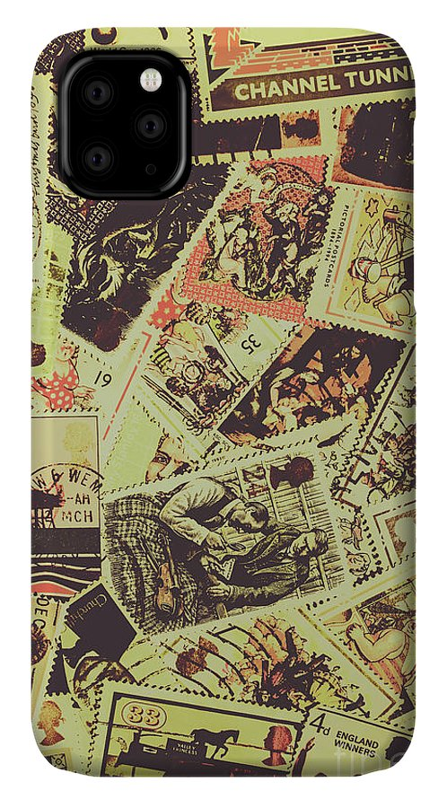 Background IPhone 11 Case featuring the photograph The English Postage Scene by Jorgo Photography - Wall Art Gallery