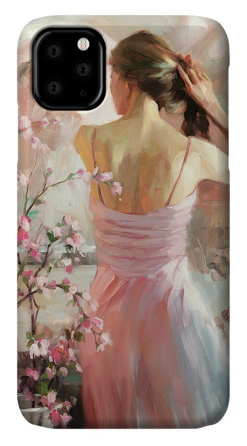 Woman IPhone Case featuring the painting The Evening Ahead by Steve Henderson