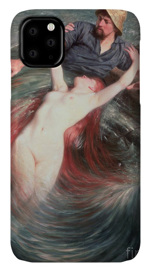 The IPhone Case featuring the painting The Fisherman And The Siren by Knut Ekvall