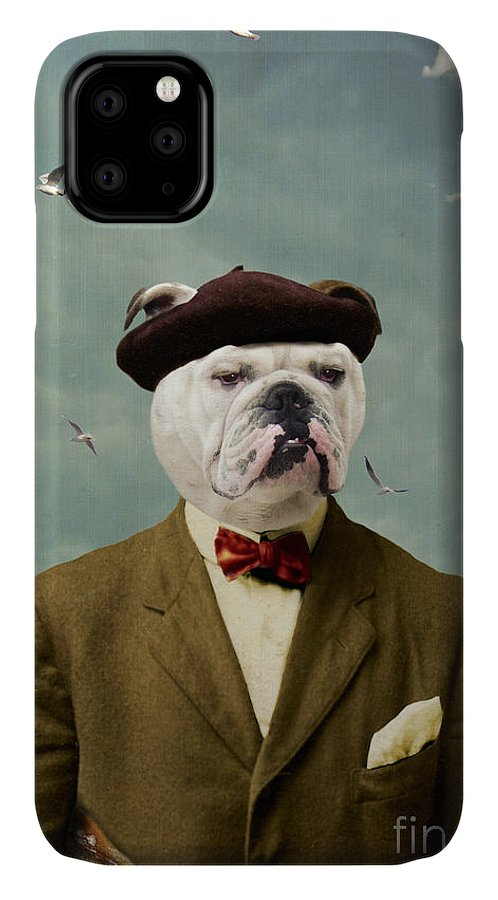Dog IPhone Case featuring the photograph The Grumpy Man by Martine Roch