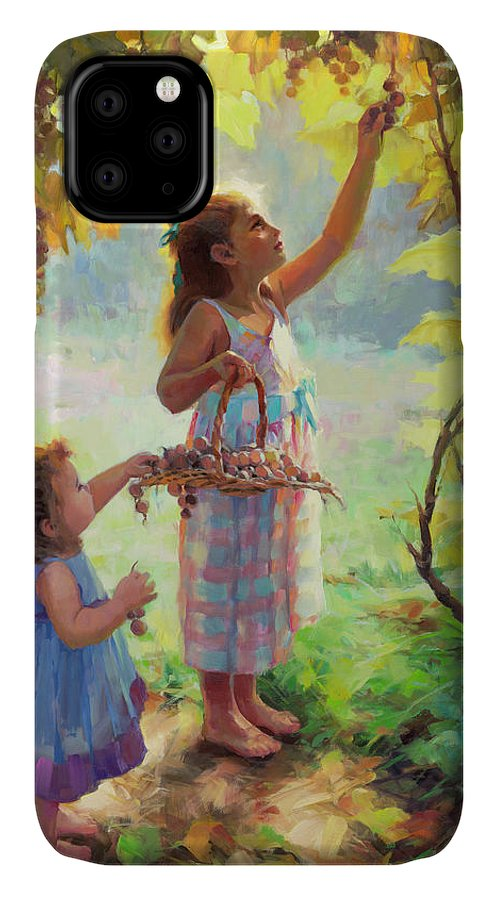 Vineyard IPhone Case featuring the painting The Harvesters by Steve Henderson