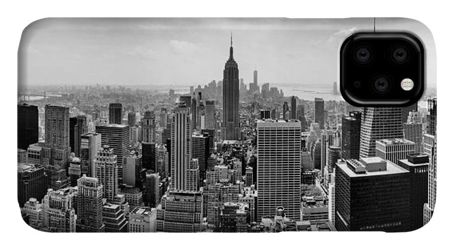 Empire State Building IPhone Case featuring the photograph New York City Skyline BW by Az Jackson