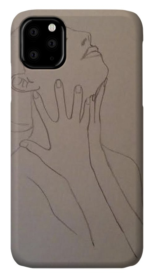 Humans IPhone Case featuring the drawing The Incomplete Beauty by Sheila Renee Parker