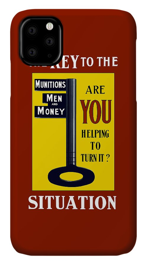 Ww1 IPhone Case featuring the painting The Key To The Situation - Ww1 by War Is Hell Store