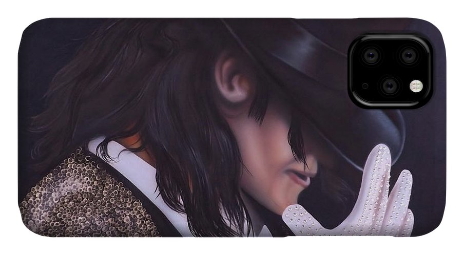 The King Of Pop IPhone Case featuring the painting The King of Pop by Darren Robinson