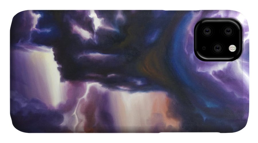 Tempest IPhone Case featuring the painting The Lightning by James Christopher Hill
