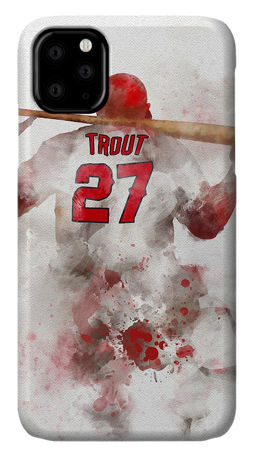 Mike Trout IPhone Case featuring the mixed media The Millville Meteor by My Inspiration