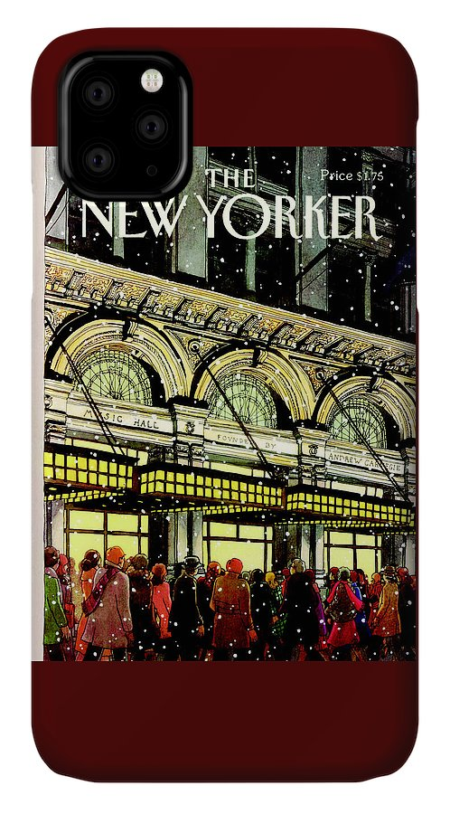 Urban IPhone Case featuring the painting The New Yorker Cover - January 18th, 1988 by Roxie Munro