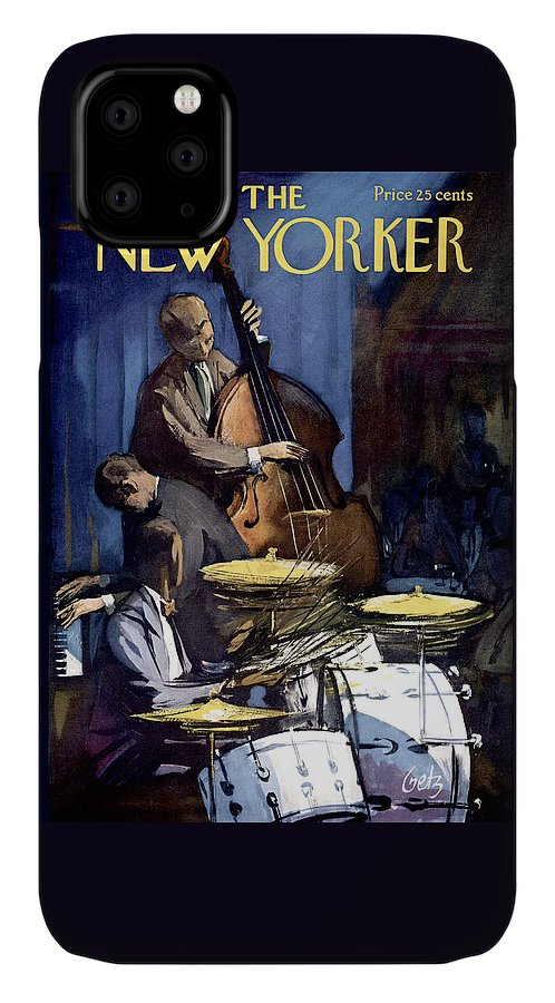 Concert IPhone 11 Case featuring the painting The New Yorker Cover - January 4th, 1958 by Arthur Getz