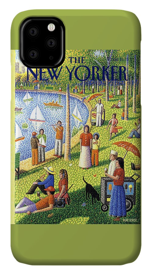 La Grande Jatte IPhone Case featuring the painting The New Yorker July 15th, 1991 by Bob Knox