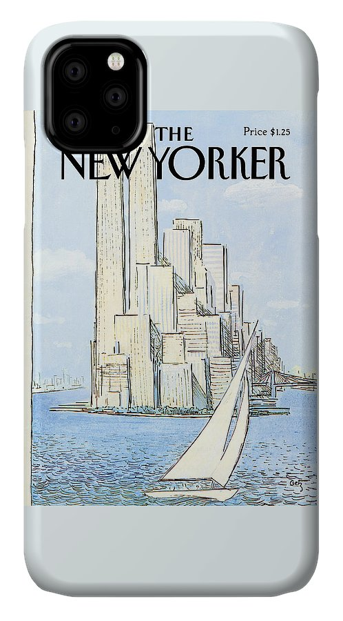 Regional IPhone Case featuring the painting New Yorker July 19th, 1982 by Arthur Getz