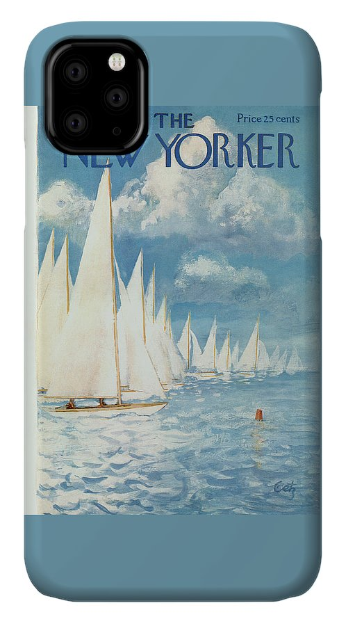 Arthur IPhone Case featuring the painting New Yorker Cover - June 13th, 1959 by Arthur Getz