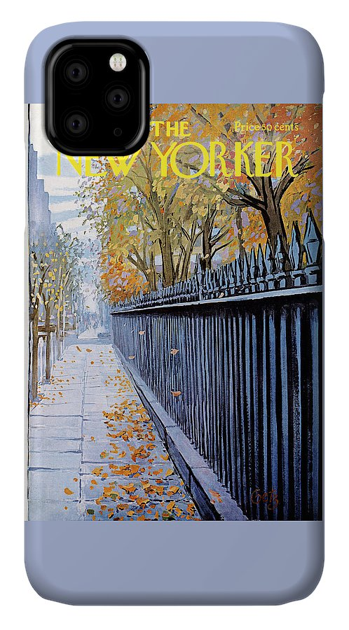 Season IPhone Case featuring the painting New Yorker October 19, 1968 by Arthur Getz