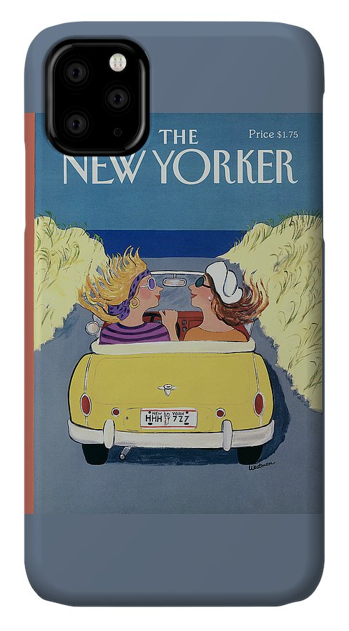 Autos IPhone Case featuring the photograph The New Yorker Cover - September 18th, 1989 by Barbara Westman