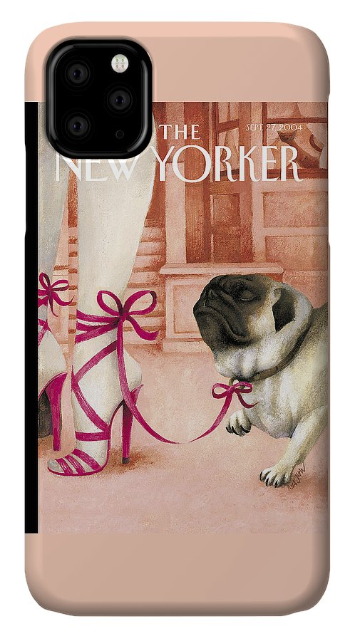 Brought IPhone Case featuring the painting The New Yorker Cover - September 27th, 2004 by Ana Juan
