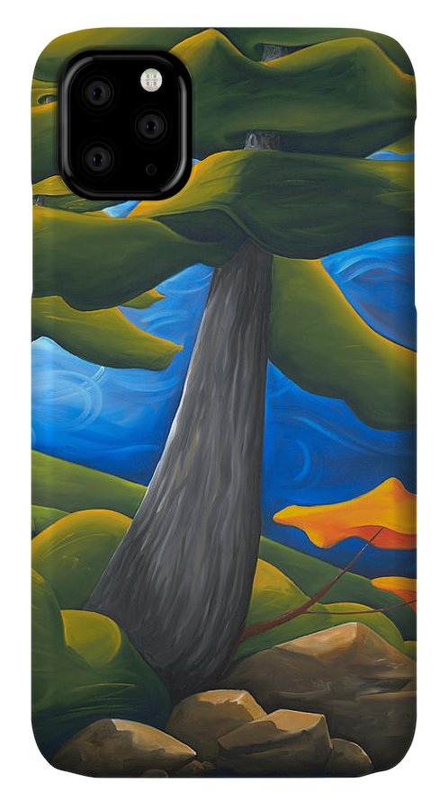 Landscape IPhone Case featuring the painting The Protectors by Richard Hoedl