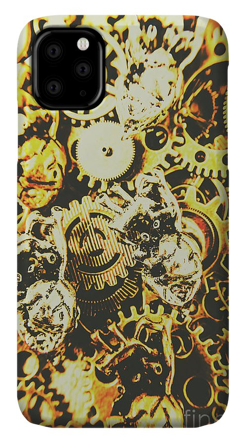 Design IPhone Case featuring the photograph The Steampunk Heart Design by Jorgo Photography - Wall Art Gallery