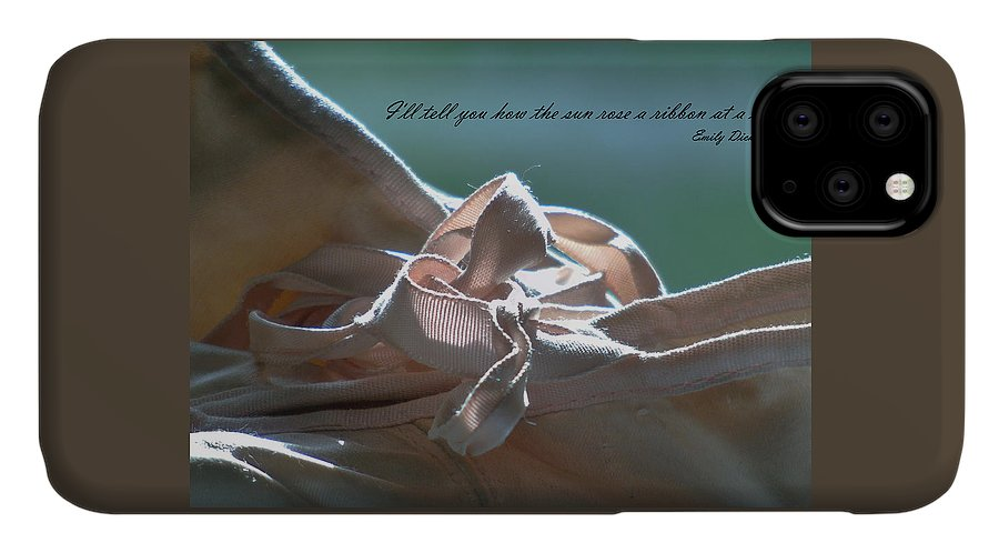 Vintage IPhone Case featuring the photograph The Sun Rose A Ribbon by Barbara St Jean