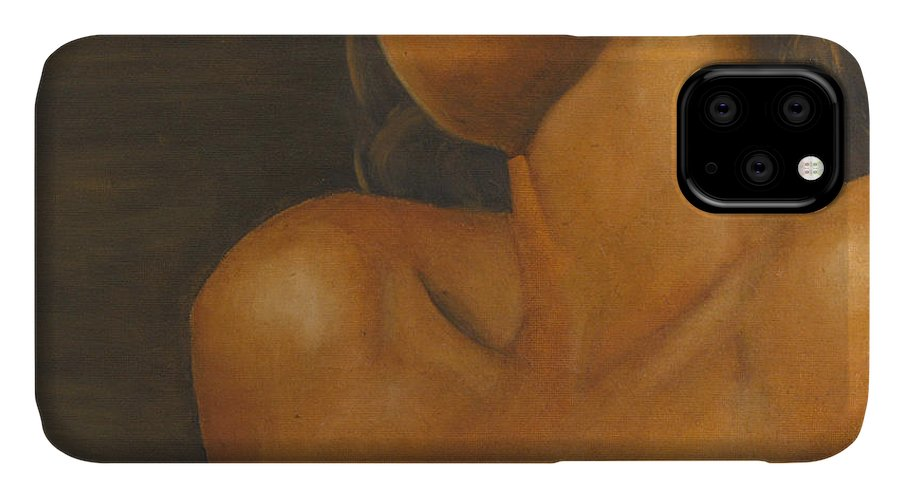 Woman IPhone Case featuring the painting The Sun Will Set For You by Dana DiPasquale