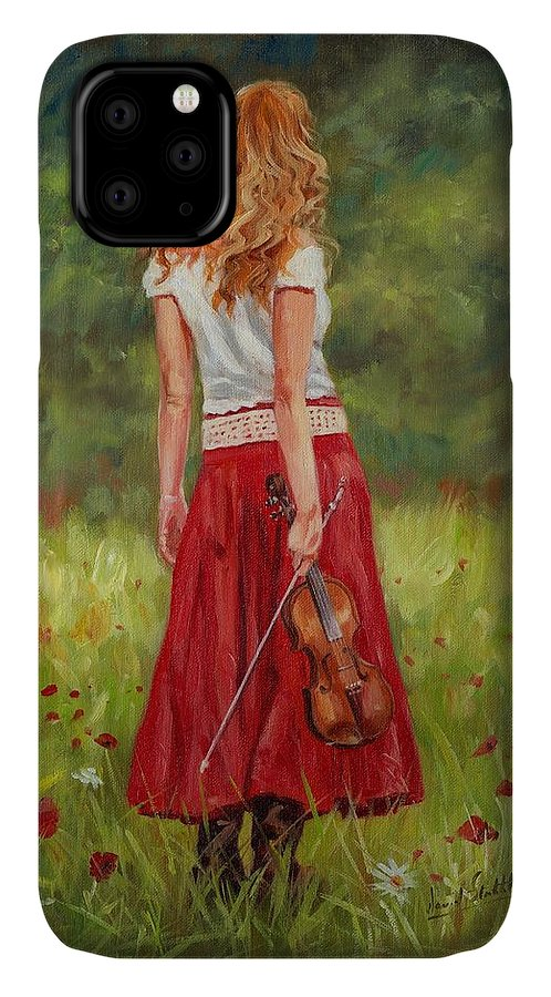 Girl IPhone Case featuring the painting The Violinist by David Stribbling