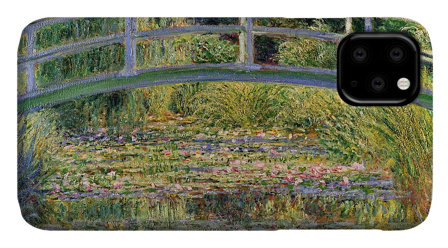 The IPhone Case featuring the painting The Waterlily Pond With The Japanese Bridge by Claude Monet