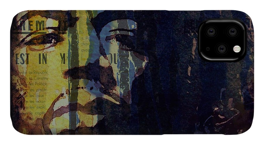Jimi Hendrix IPhone Case featuring the painting The Wind Cries Mary Reprise by Paul Lovering