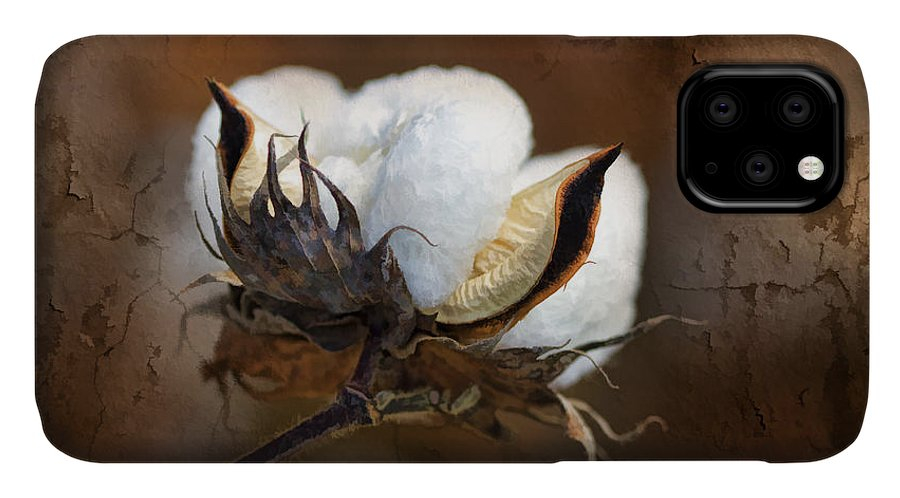 Cotton IPhone Case featuring the photograph Them Cotton Bolls by Kathy Clark