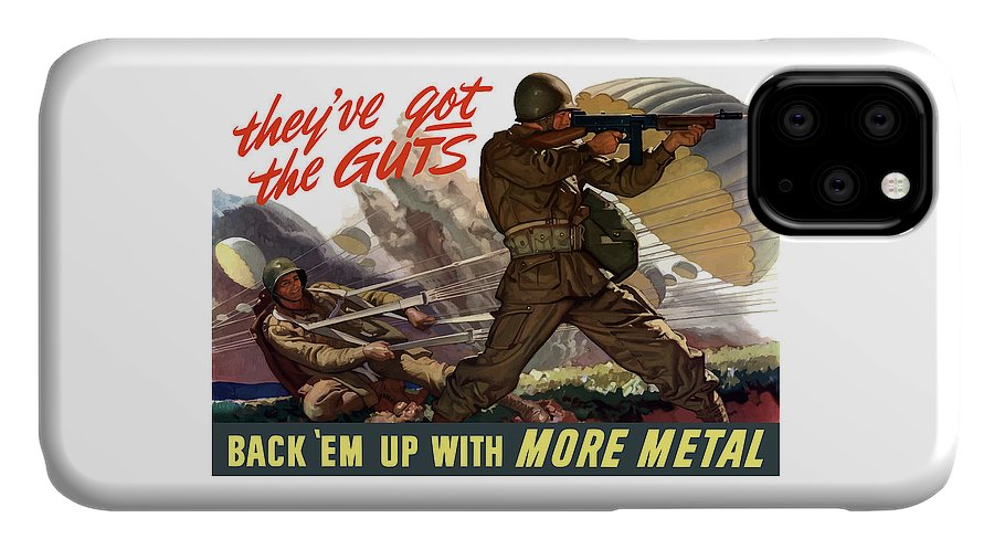 Airborne IPhone 11 Case featuring the painting They've Got The Guts by War Is Hell Store