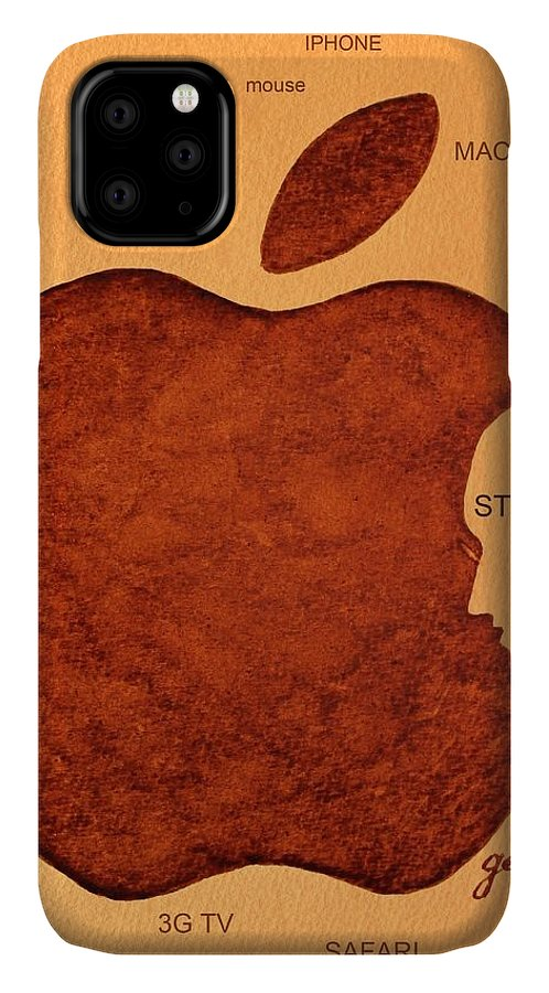 Steve Jobs Tribut Paintings IPhone Case featuring the painting Think Different Steve Jobs 2 by Georgeta Blanaru