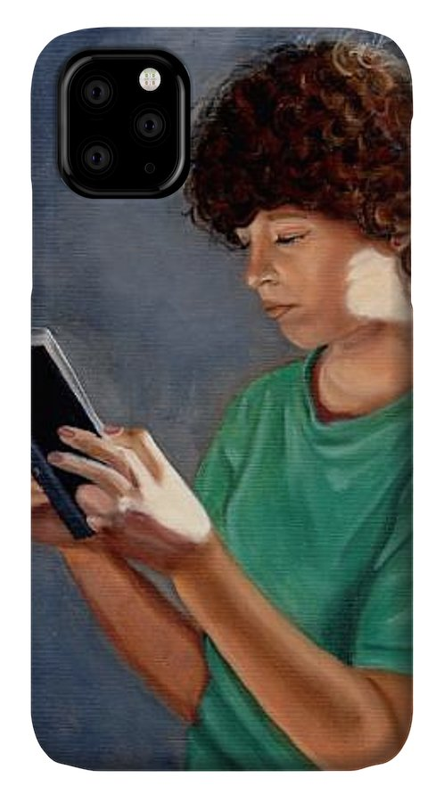 Portrait IPhone Case featuring the painting Thirst for Knowledge by Toni Berry