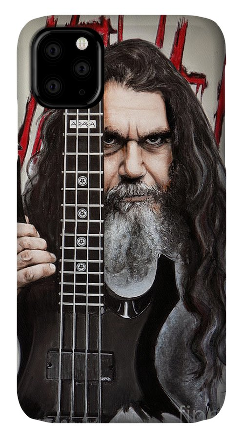 Tom IPhone Case featuring the pastel Tom Araya by Melanie D