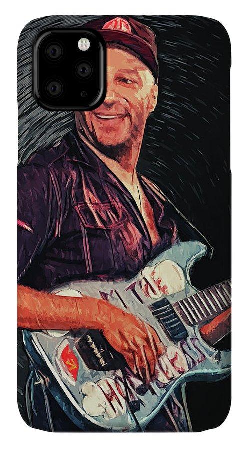 Tom Morello IPhone Case featuring the digital art Tom Morello by Zapista OU