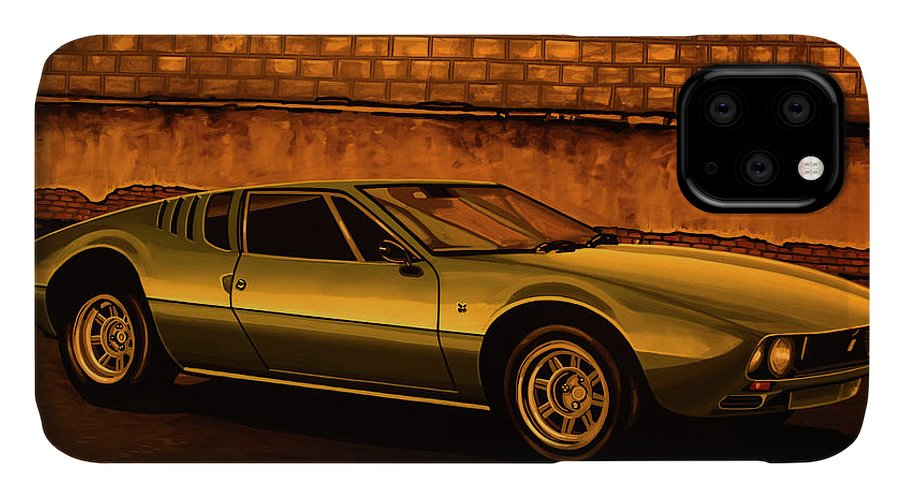 Tomaso Mangusta IPhone Case featuring the painting Tomaso Mangusta Mixed Media by Paul Meijering
