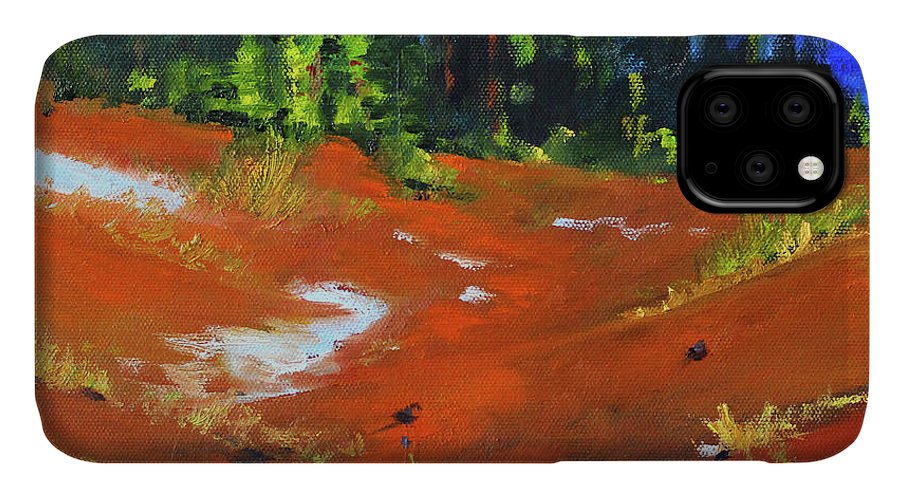 Oregon Landscape Painting IPhone Case featuring the painting Toward Bachelor by Nancy Merkle