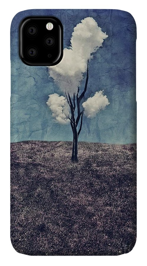 Tree IPhone Case featuring the digital art Tree Clouds 01d2 by Aimelle