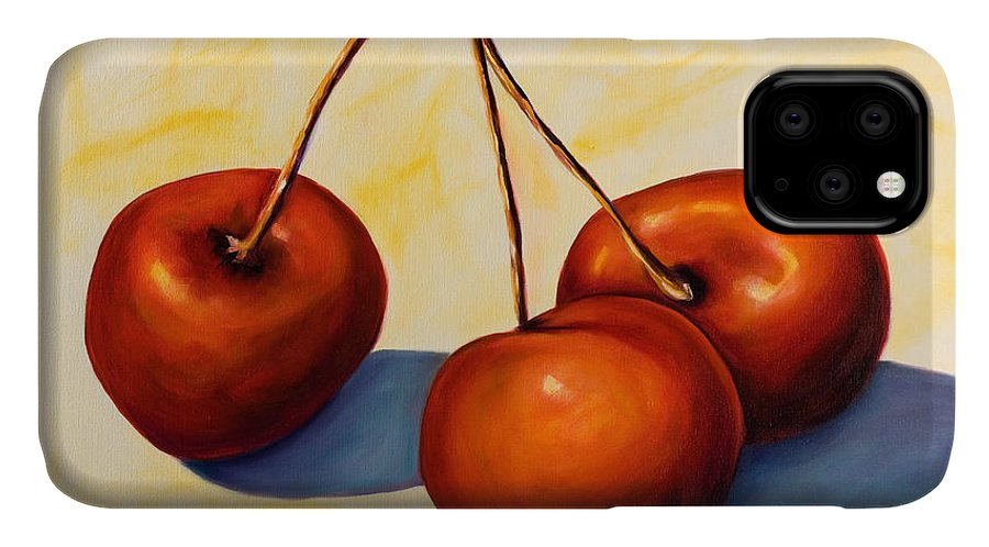 Cherries IPhone Case featuring the painting Trilogy by Shannon Grissom