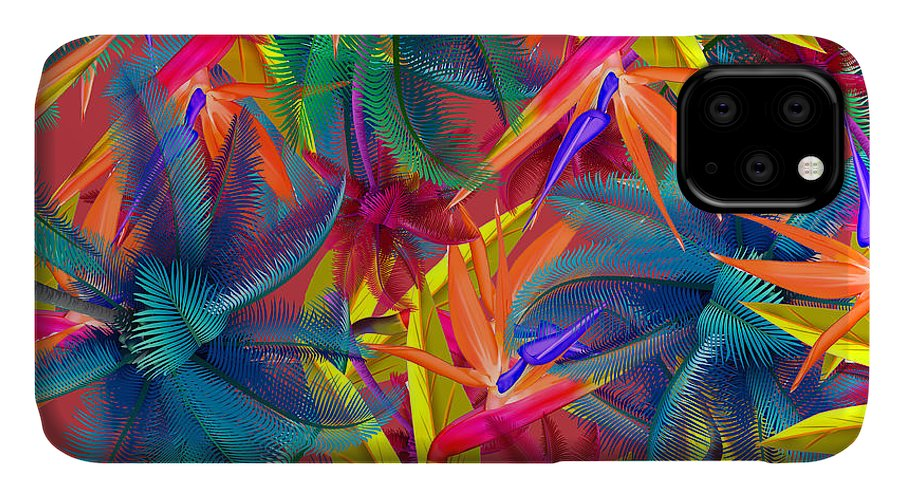 Cherry IPhone Case featuring the painting Tropical 7 by Mark Ashkenazi