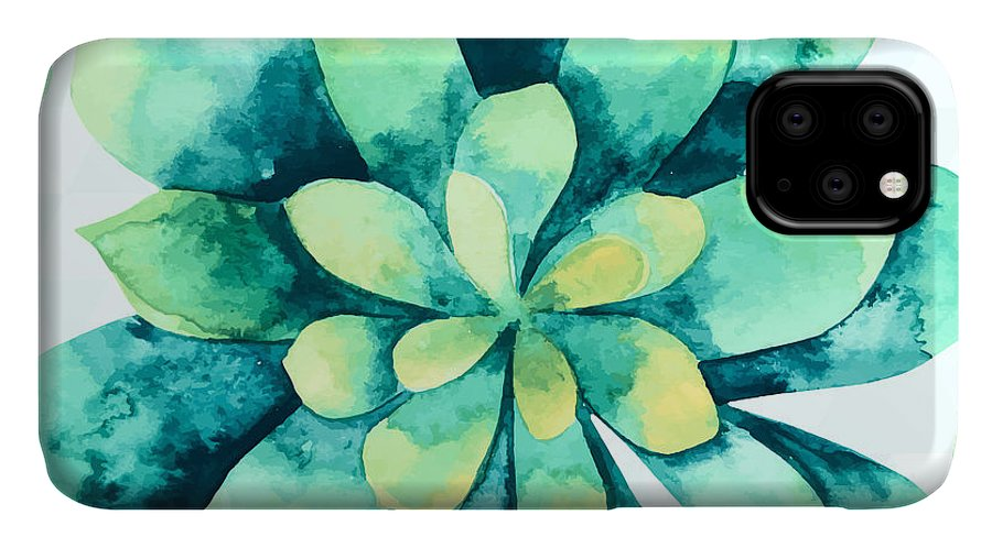 Summer IPhone Case featuring the painting Tropical Flower by Mark Ashkenazi