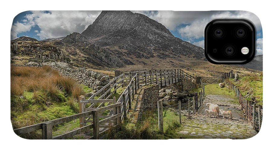 Tryfan IPhone Case featuring the photograph Tryfan And The Ogwen Valley by Adrian Evans