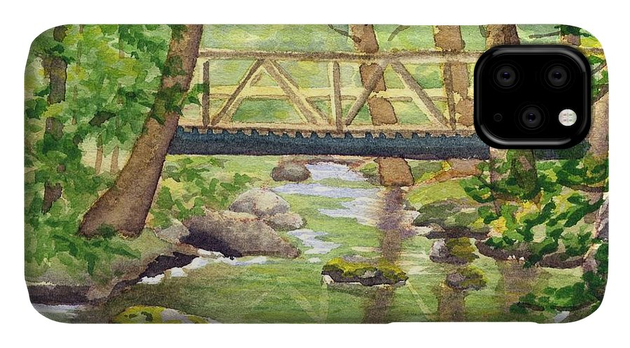 Stream IPhone Case featuring the painting Tuckers Brook by Sharon E Allen