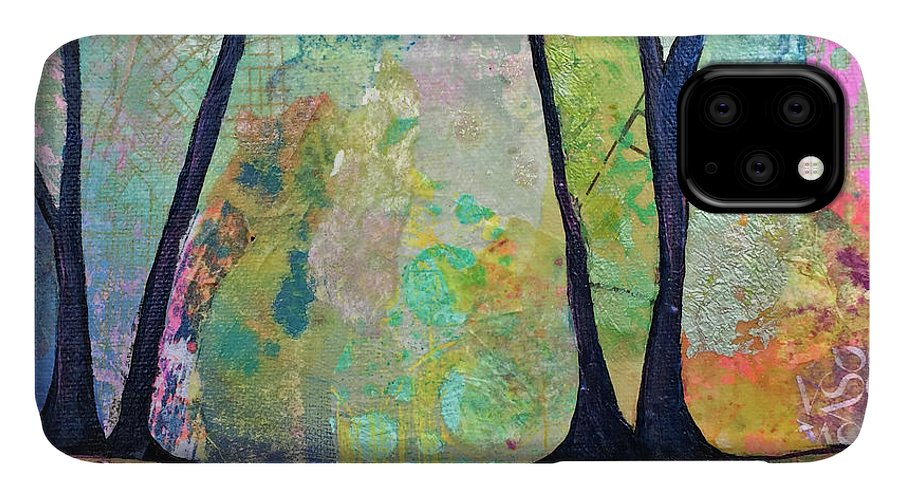 Fall IPhone Case featuring the painting Twilight I by Shadia Derbyshire