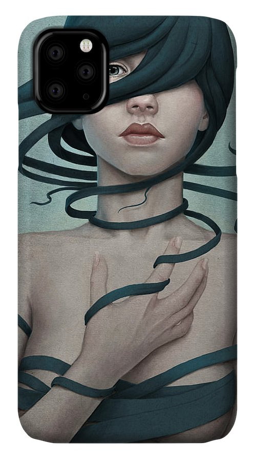 Woman IPhone Case featuring the digital art Twisted by Diego Fernandez
