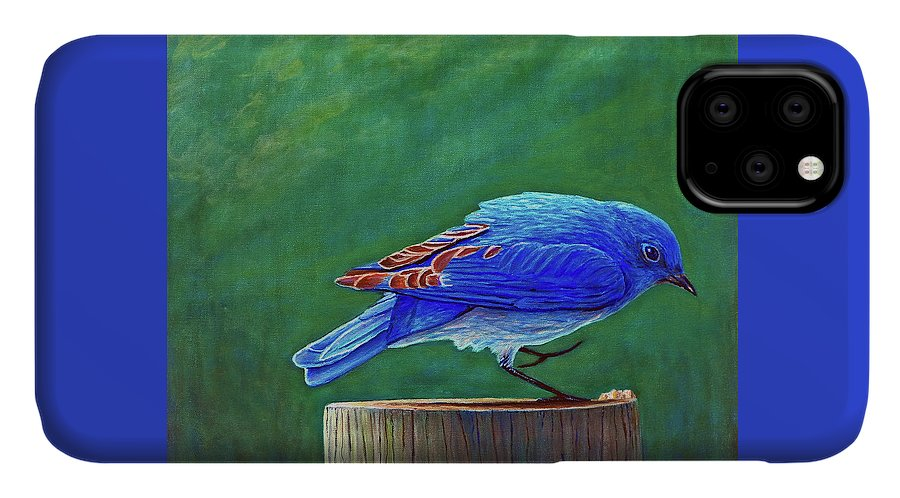 Bluebird IPhone Case featuring the painting Two Step by Brian Commerford