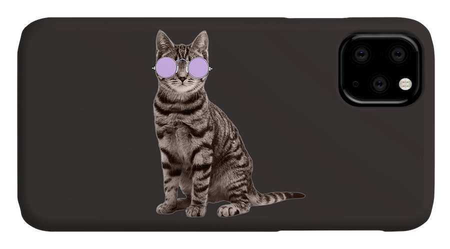 Undercover Cat IPhone Case featuring the photograph Undercover Cat by Priscilla Wolfe