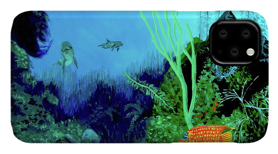 Wildlife IPhone Case featuring the painting Underwater by Stan Hamilton