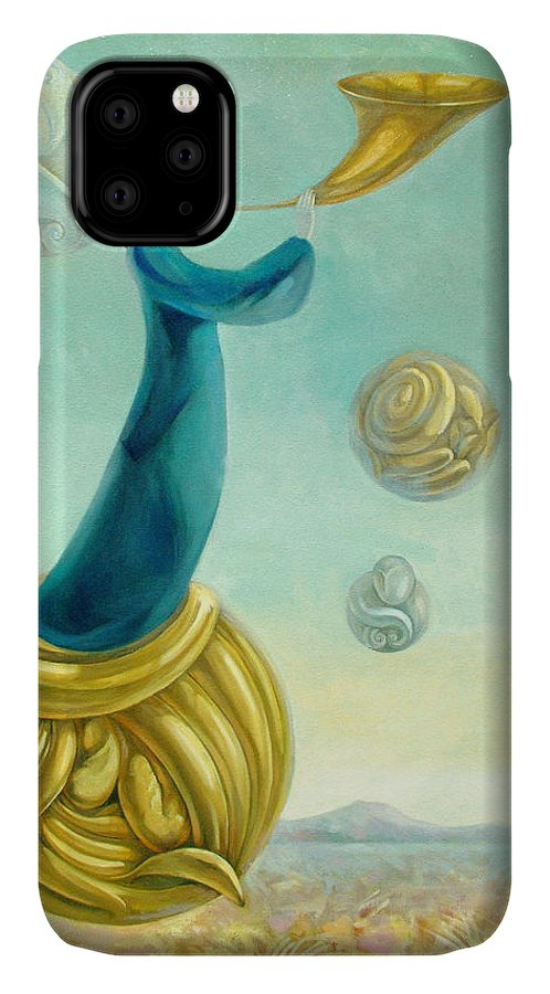 Archangel IPhone Case featuring the painting Uriel by Filip Mihail