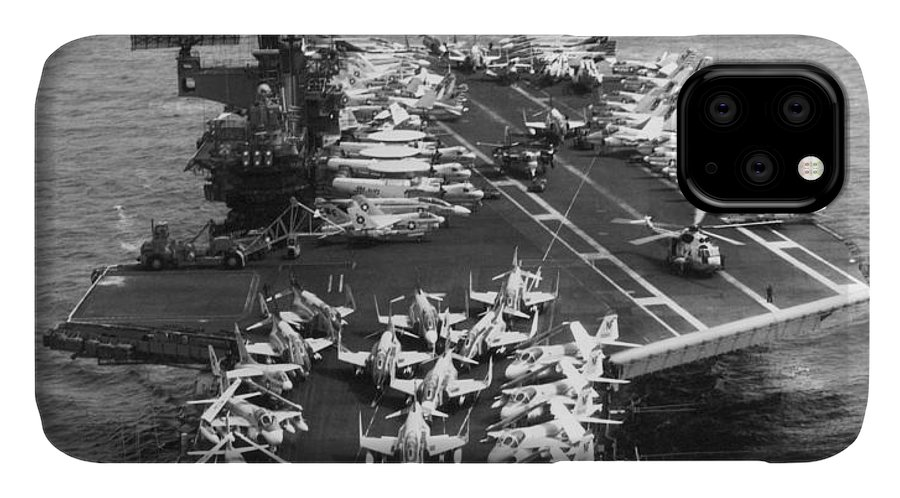 1970s IPhone Case featuring the photograph Uss Midway Leaves Sf by Underwood Archives