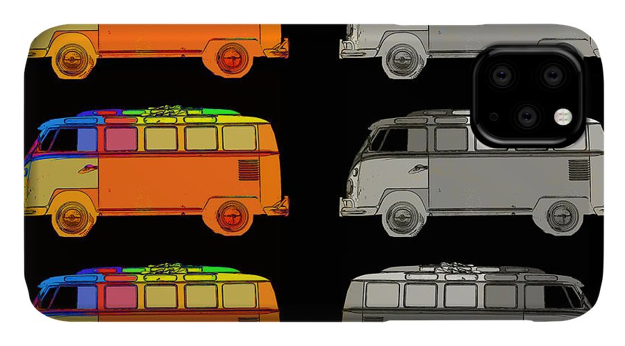 Surfer IPhone 11 Case featuring the photograph Vdub Surfer Bus Series by Edward Fielding