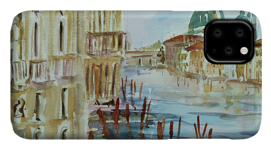 Venice IPhone 11 Case featuring the painting Venice Impression IIi by Xueling Zou